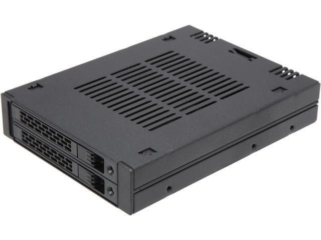 "ICY DOCK ExpressCage MB742SP-B 2 x 2.5"" SAS/SATA HDD/SSD Mobile Rack for External 3.5"" Bay - Comparable to Tray-less Design"