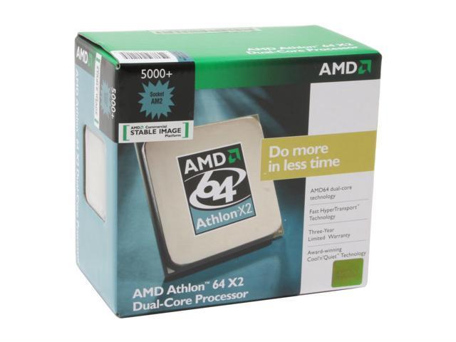 Amd Athlon 64 X2 5000 2 6 Ghz Socket Am2 Ada5000csbox Processor Newegg Com