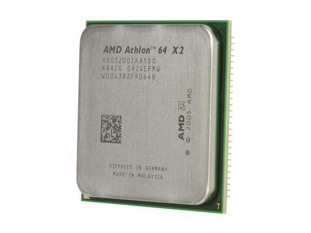 CPU ADO5200IAA5DO 2.7GHZ Dual Core Socket AM2 Processor AMD Athlon 64 X2 5200