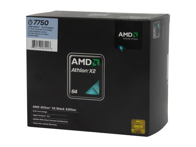 AMD Athlon 64 X2 7750 Kuma Dual-Core 2.7 GHz Socket AM2+ 95W AD775ZWCGHBOX black edition Processor