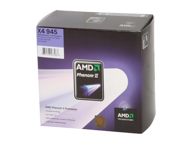 AMD Phenom II X4 945 Deneb Quad-Core 3.0 GHz Socket AM3 125W HDX945FBGIBOX Processor