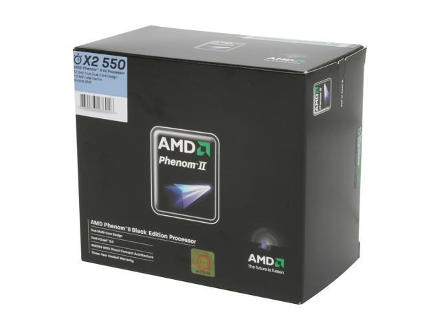 AMD Phenom II X2 550 Black Edition Callisto Dual-Core 3.1 GHz Socket AM3 80W HDZ550WFGIBOX Processor