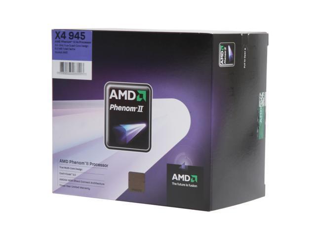 Amd Phenom Ii X4 945 Deneb Quad Core 3 0 Ghz Socket Am3 95w