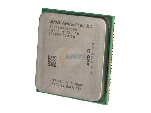 Amd Athlon 64 X2 5000 Brisbane Dual Core 2 6 Ghz Socket Am2 Ado5000iaa5dd Desktop Processor Newegg Com