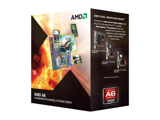 AMD A6-3670K Unlocked 2 7 GHz Socket FM1 AD3670WNGXBOX Desktop APU (CPU +  GPU) with DirectX 11 Graphic - Newegg com