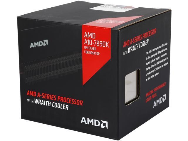 AMD A10-7890K with AMD Wraith Cooler Quad-Core Socket FM2+ 95W  AD789KXDJCHBX Desktop Processor AMD Radeon R7 - Newegg com