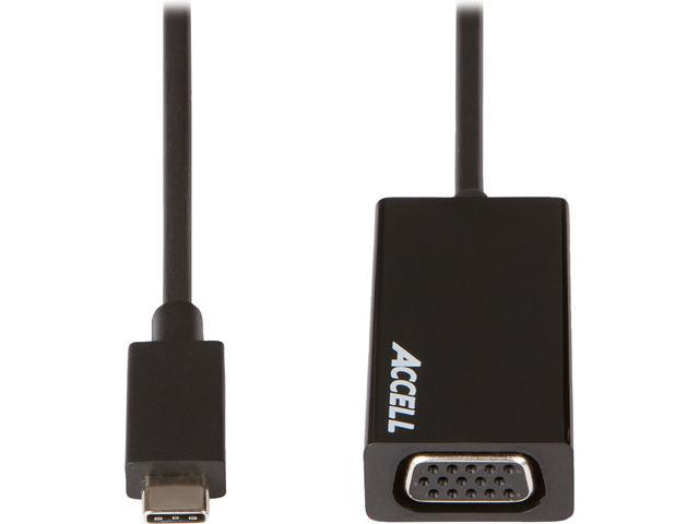 Accell Accessory U187B-004B USB-C to VGA Adapter Retail