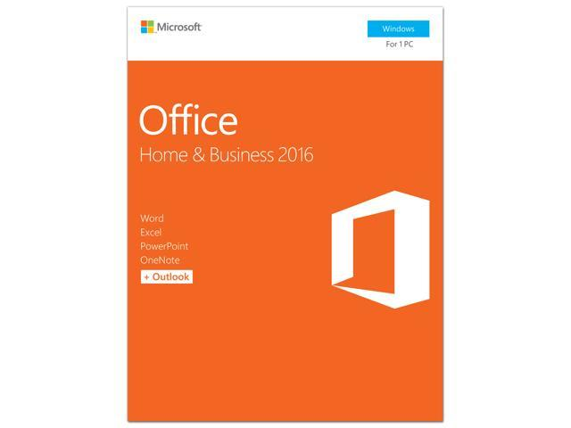 Microsoft Office Home and Business 2016 Product Key Card - 1 PC - Newegg com