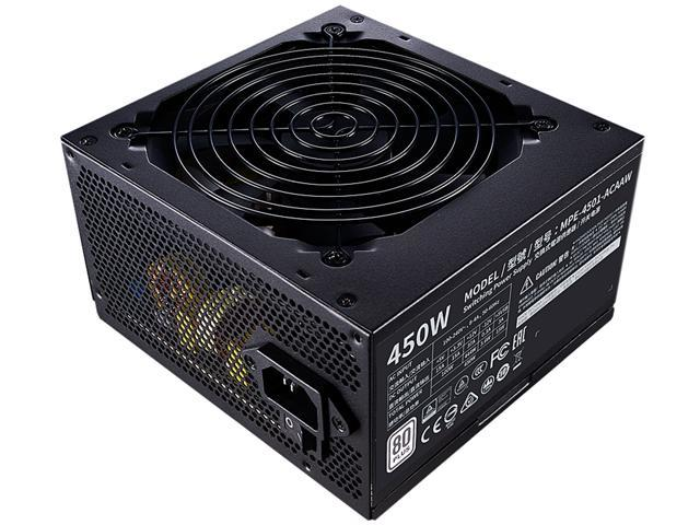 Cooler Master MWE 450 WHITE - V2 MPE-4501-ACAAW-US 450W ATX 12V 80 PLUS Standard Certified Power Supply