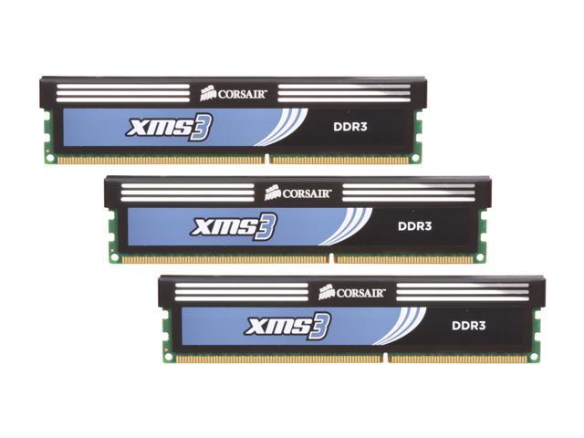 CORSAIR XMS3 6GB (3 x 2GB) 240-Pin DDR3 SDRAM DDR3 1600 (PC3 12800) Desktop  Memory Model CMX6GX3M3C1600C7 - Newegg com