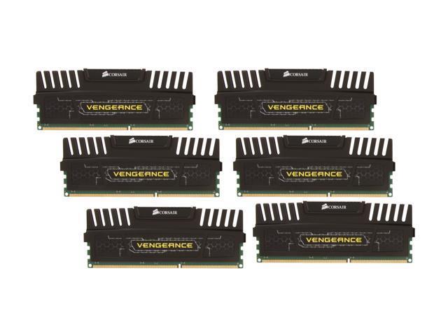5de4724a CORSAIR Vengeance 24GB (6 x 4GB) 240-Pin DDR3 SDRAM DDR3 1600 (PC3 12800)  Desktop Memory Model CMZ24GX3M6A1600C9