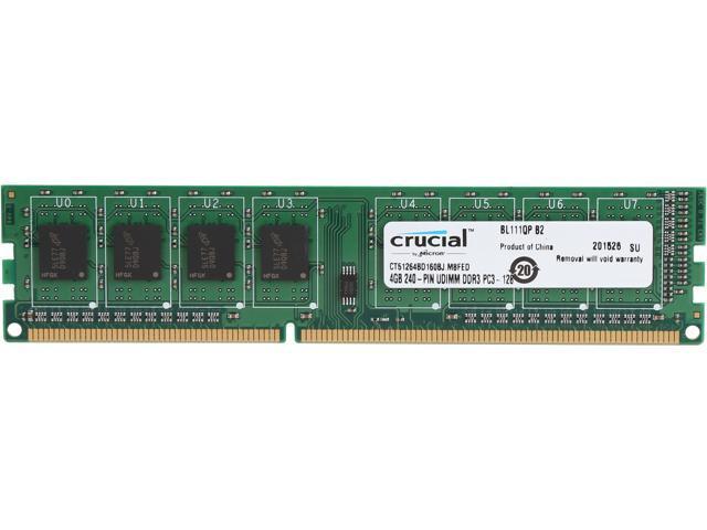 Crucial 4gb 240 Pin Ddr3 Sdram Ddr3l 1600 Pc3l 12800 High Density