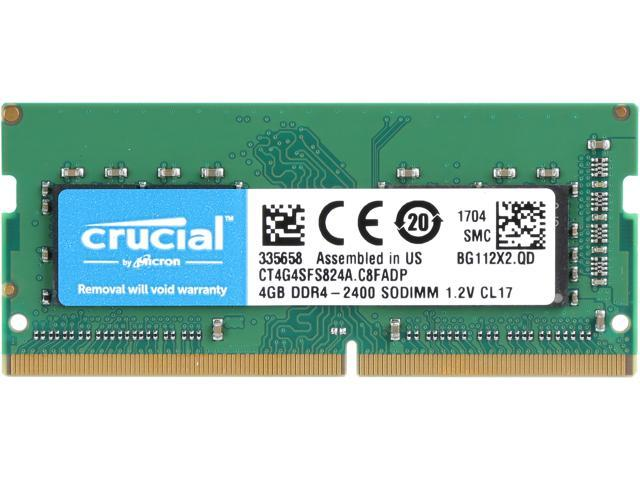 Crucial 4gb Single Ddr4 2400 Pc4 19200 260 Pin Sodimm Memory