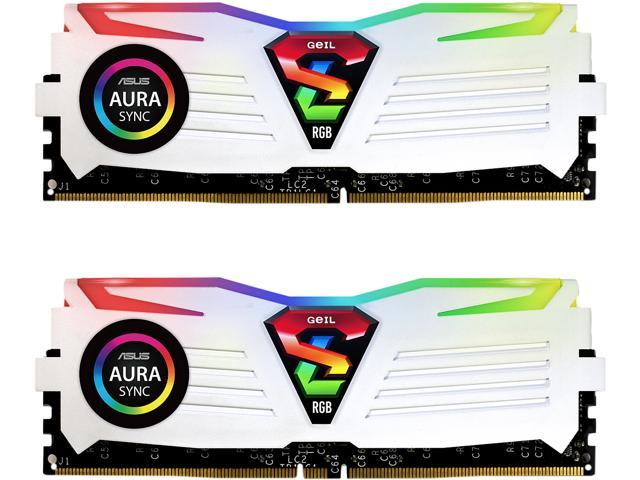 GeIL SUPER LUCE RGB SYNC 16GB (2 x 8GB) 288-Pin DDR4 SDRAM DDR4 3200 (PC4 25600) Desktop Memory Model GLWS416GB3200C16ADC