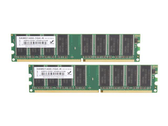 Wintec 2GB 2 X 1GB 184 Pin DDR SDRAM DDR 400 PC 3200