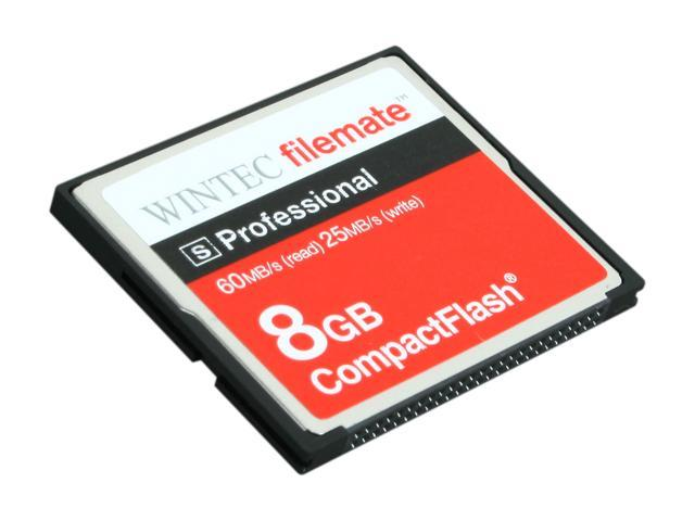 Wintec FileMate S Professional 8GB Compact Flash (CF) Flash Card Model 3FMCF8GBS-R
