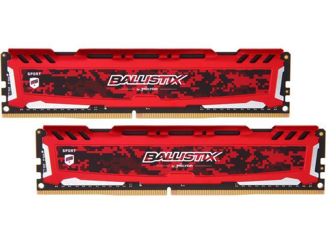 Ballistix Sport LT 16GB (2 x 8GB) 288-Pin DDR4 SDRAM DDR4 3200 (PC4 25600) Desktop Memory Model BLS2K8G4D32AESEK