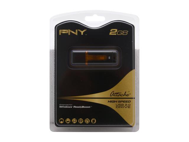 PNY Attaché 2GB Flash Drive (USB2.0 Portable) Model P-FD2GBATT2- e755a2791