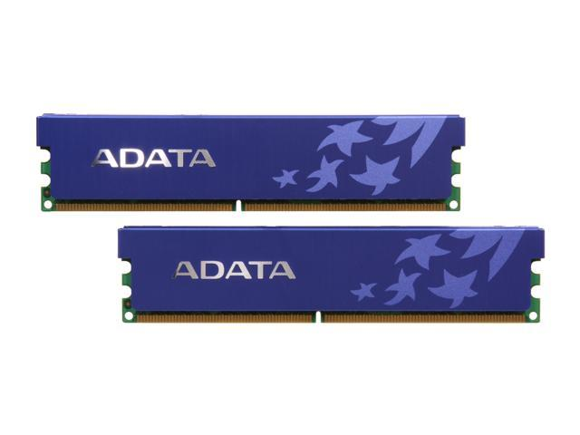 ADATA 4GB (2 x 2GB) 240-Pin DDR2 SDRAM DDR2 800 (PC2 6400) Dual Channel Kit Desktop Memory Model AD2U800B2G5-DRH