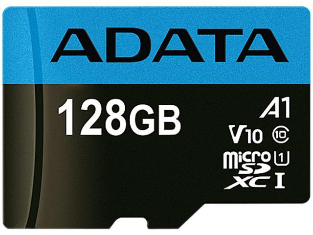 ADATA 128GB Premier microSDXC UHS-I / Class 10 V10 A1 Memory Card with SD Adapter, Speed Up to 100MB/s ...