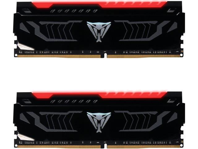 Patriot Viper LED 16GB (2 x 8GB) DDR4 2400MHz DRAM (Desktop Memory) CL14  1 2V Red DIMM (288-pin) Extreme Performance PVLR416G240C4K (Intel XMP, AMD