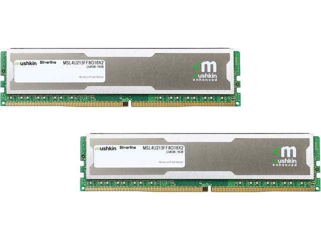 Mushkin Enhanced Silverline 16GB (2 x 8GB) 288-Pin DDR4 SDRAM DDR4 2133  (PC4 17000) Desktop Memory Model MSL4U213FF8G18X2 - Newegg com