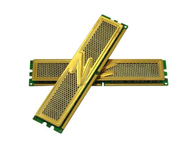 OCZ Gold 2GB (2 x 1GB) 240-Pin DDR2 SDRAM DDR2 800 (PC2 6400) Dual Channel Kit Desktop Memory Model OCZ2G8002GK