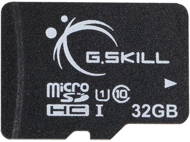 G Skill 32GB microSDHC UHS-I/U1 Class 10 Memory Card without Adapter  (FF-TSDG32GN-C10) - Newegg com