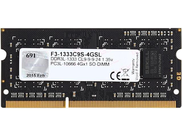 G.SKILL 4GB 204-Pin DDR3 SO-DIMM DDR3L 1333 (PC3L 10666) Laptop - Sale: $16.98 USD (32% off)