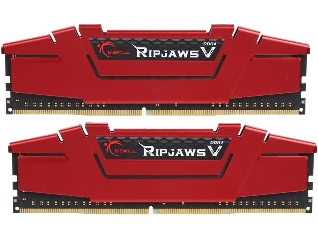 G.SKILL Ripjaws V Series 32GB (2 x 16GB) 288-Pin DDR4 SDRAM DDR4 2666 (PC4 21300) Desktop Memory Model F4-2666C15D-32GVR