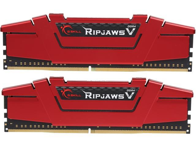G.SKILL Ripjaws V Series 8GB (2 x 4GB) 288-Pin DDR4 SDRAM DDR4 3200 (PC4 25600) Desktop Memory Model F4-3200C16D-8GVRB