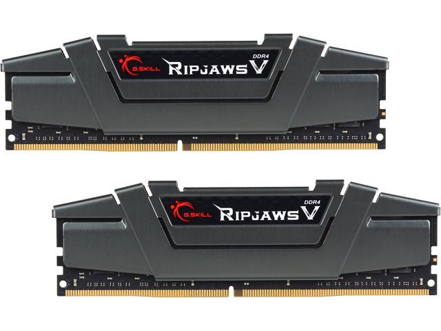 G.SKILL Ripjaws V Series 16GB (2 x 8GB) 288-Pin DDR4 SDRAM DDR4 3200 (PC4 25600) Desktop Memory Model F4-3200C16D-16GVGB