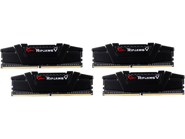 G.SKILL Ripjaws V Series 64GB (4 x 16GB) 288-Pin DDR4 SDRAM DDR4 3200 (PC4 25600) Desktop Memory Model F4-3200C14Q-64GVK