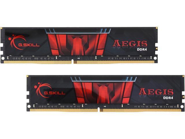 G SKILL Aegis 32GB (2 x 16GB) 288-Pin DDR4 SDRAM DDR4 2133 (PC4 17000)  Intel Z170 Platform / Intel X99 Platform Desktop Memory Model  F4-2133C15D-32GIS