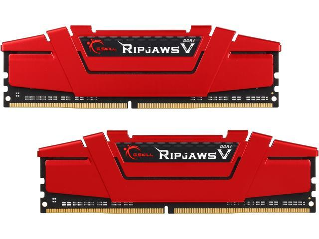 G.SKILL Ripjaws V Series 32GB (2 x 16GB) 288-Pin DDR4 SDRAM DDR4 3333 (PC4 26600) Desktop Memory Model F4-3333C16D-32GVR