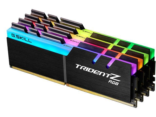 G.SKILL Trident Z RGB (For AMD) 32GB (4 x 8GB) 288-Pin DDR4 SDRAM DDR4 3200 (PC4 25600) AMD X399 Desktop Memory Model F4-3200C14Q-32GTZRX