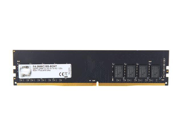 G SKILL Value Series 8GB 288-Pin DDR4 SDRAM DDR4 2666 (PC4 21300) Desktop  Memory Model F4-2666C19S-8GNT - Newegg com