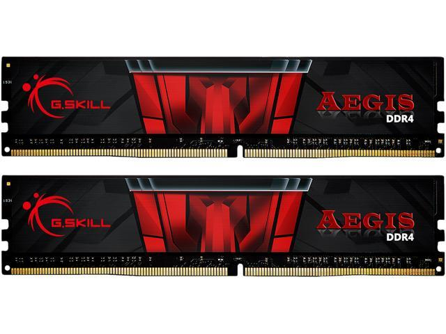 G.SKILL Aegis 32GB (2 x 16GB) 288-Pin DDR4 SDRAM DDR4 3200 (PC4 25600) Intel XMP 2.0 Memory Kit Model F4-3200C16D-32GIS