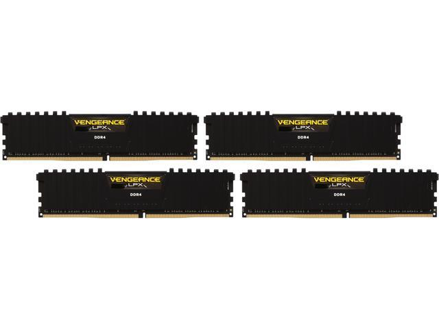 CORSAIR Vengeance LPX 16GB (4 x 4GB) 288-Pin DDR4 SDRAM DDR4 2133 (PC4 17000) Memory Kit Model CMK16GX4M4A2133C13