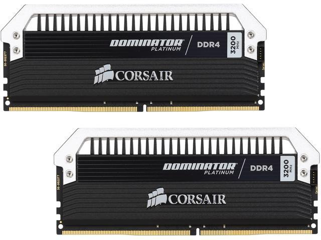 CORSAIR Dominator Platinum 16GB (2 x 8GB) 288-Pin DDR4 SDRAM DDR4 3200 (PC4 25600) Memory Kit Model CMD16GX4M2B3200C16