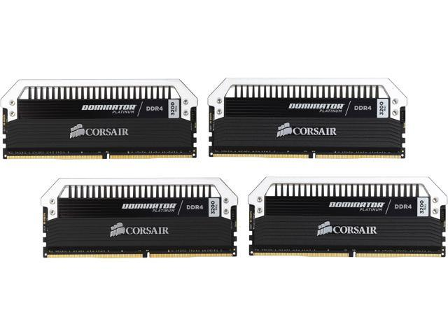 CORSAIR Dominator Platinum 16GB (4 x 4GB) 288-Pin DDR4 SDRAM DDR4 3200 (PC4 25600) Desktop Memory Model CMD16GX4M4C3200C16