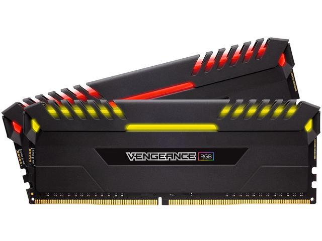 CORSAIR Vengeance RGB DRAM 16GB (2 x 8GB) DDR4 3000 (PC4-24000) C15 - Intel 100/200 Series Desktop Memory