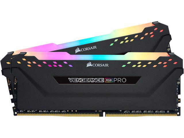 CORSAIR Vengeance RGB Pro 16GB (2 x 8GB) 288-Pin DDR4 DRAM DDR4 3200 (PC4  25600) Desktop Memory Model CMW16GX4M2C3200C16 - Newegg com
