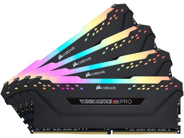 CORSAIR Vengeance RGB Pro 32GB (4 x 8GB) 288-Pin DDR4 SDRAM DDR4 3600 (PC4 28800) Desktop Memory Model CMW32GX4M4D3600C18