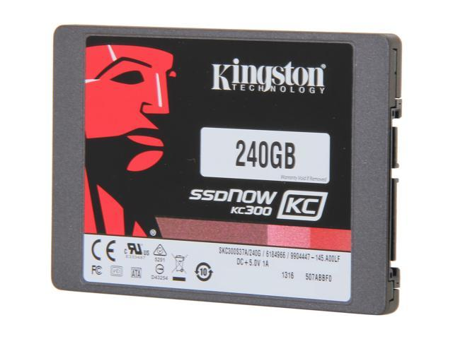 "Kingston SSDNow KC300 SKC300S37A/240G 2.5"" 240GB SATA III Enterprise Solid State Drive with Adapter"