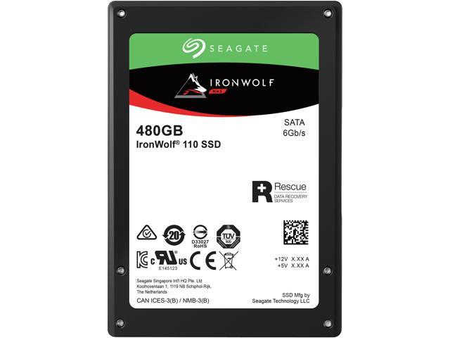 "Seagate IronWolf 110 2.5"" 480GB SATA III 3D TLC Internal Solid State Drive (SSD) ZA480NM10011"