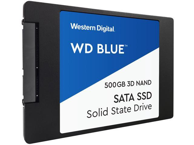 "WD Blue 3D NAND 500GB Internal SSD - SATA III 6Gb/s 2.5""/7mm Solid State Drive - WDS500G2B0A"