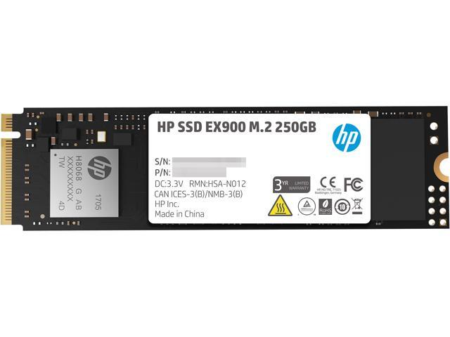 HP EX900 M 2 250GB PCIe 3 0 x4 NVMe 3D TLC NAND Internal Solid State Drive  (SSD) 2YY43AA#ABC - Newegg com