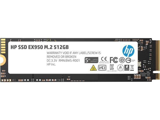HP EX950 M.2 2280 512GB PCle Gen3 x4, NVMe1.3 3D NAND Internal Solid State Drive (SSD) 5MS22AA#ABC