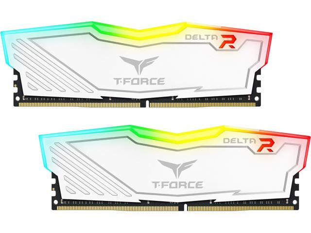 Team T-Force Delta RGB 16GB (2 x 8GB) 288-Pin DDR4 SDRAM DDR4 3000 (PC4 24000) Intel XMP 2.0 Desktop Memory Model TF4D416G3000HC16CDC01